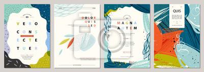 Sticker Ensemble de modèles artistiques universels créatifs abstraits. Bon pour l'affiche, la carte, l'invitation, le flyer, la couverture, la bannière, une pancarte, une brochure et toute autre conception gr