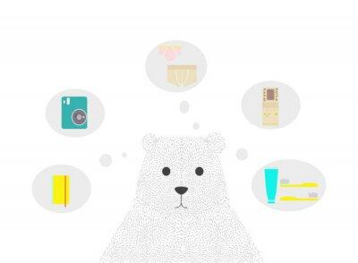 Ensemble de voyage avec ours