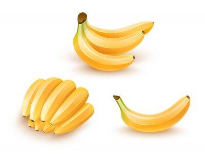 Sticker Ensemble, isolé, banane, fruits Illustration Eps10.
