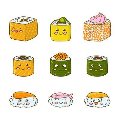 Sticker Ensemble, rigolote, sushi, rouleaux