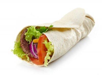 Sticker Enveloppez la viande et les légumes