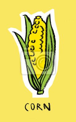 Épis de maïs sur fond jaune