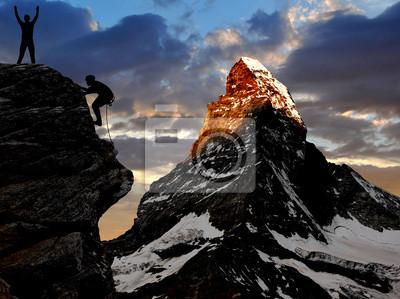 escalade dans les Alpes suisses