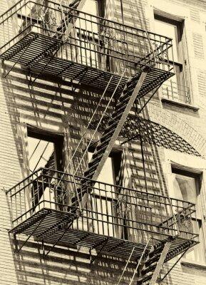 Sticker Escalier de secours