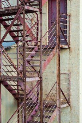 Sticker Escalier de secours extérieur sur le bâtiment de fabrication