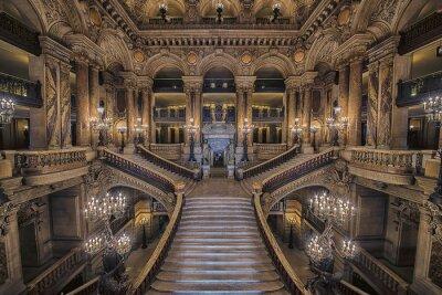 Sticker Escalier intérieur de l'Opéra Palais Garnier