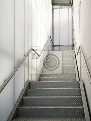 Sticker: Escalier moderne en métal