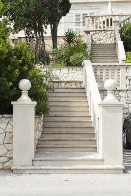 Sticker Escaliers à l'île de Korcula, Croatie