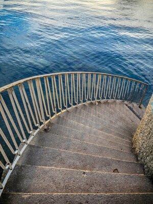 Sticker Escaliers, bas, eau