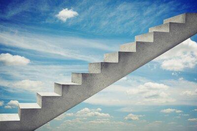 Sticker escaliers en béton sur le ciel bleu