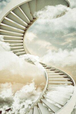 Sticker escaliers en colimaçon