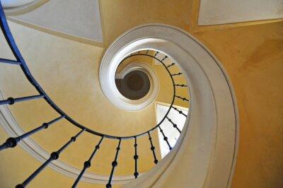 Sticker Escaliers en colimaçon élément architectural d'un bâtiment historique