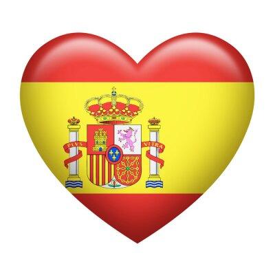 Sticker Espagnol Forme Insignia Coeur