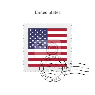 Sticker Etats-Unis marquent le timbre-poste.