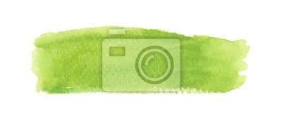 Sticker Étiquette aquarelle vert clair. Illustration vectorielle