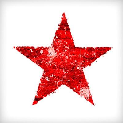 Sticker Étoile abstraite sur fond blanc