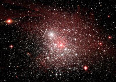 Sticker Etoile, poussière et nébuleuse à gaz dans une galaxie éloignée