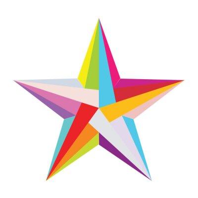 Sticker étoiles coloré