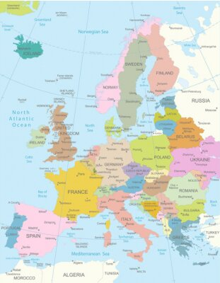 Sticker Europa-map.Layers très détaillées utilisée.