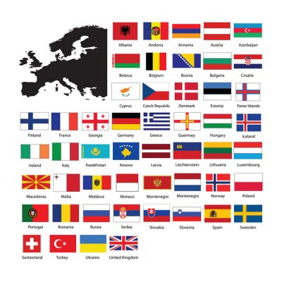 Sticker Europe flags