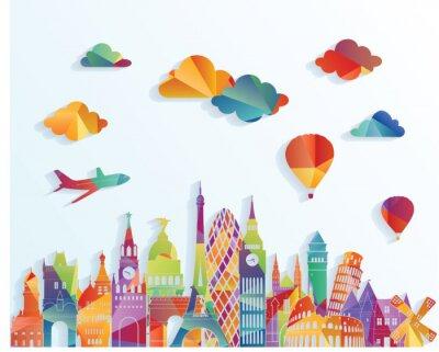 Sticker Europe, Horizon. Illustration vectorielle