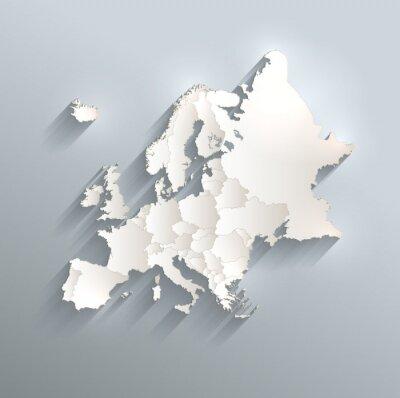 Sticker Europe, politique, carte, drapeau, 3D, vecteur, individuel ...