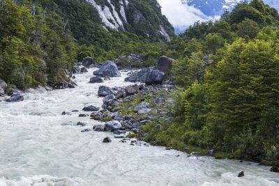 Sticker Exploradores rivière, Chili