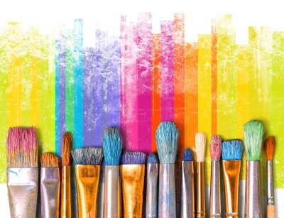 Sticker Exposition pinceaux art créativité créativité art