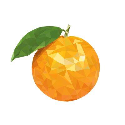 Sticker Faible poly orange