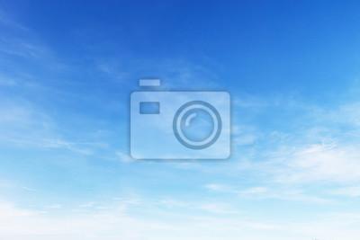 Sticker Fantastic soft white clouds against blue sky