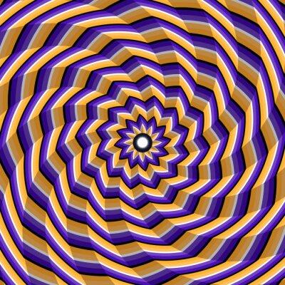 Sticker Fausse torsion facettée au centre. Résumé, vecteur, optique, illusion, fond.