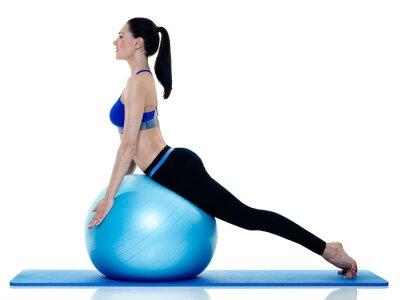 Sticker Femme, aptitude, pilates, exercices, isolé