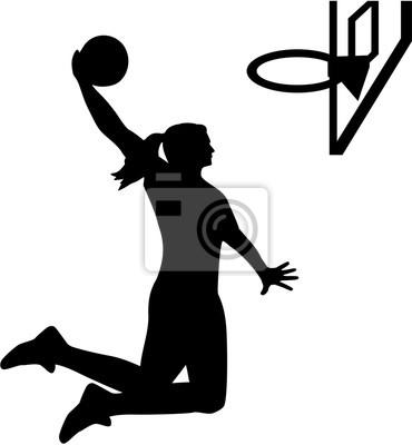 Femme, basket-ball, joueur
