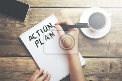 Sticker Femme, Écrire, action, plan, texte