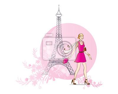Femme et Tour Eiffel