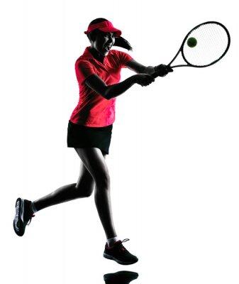 Sticker femme joueur de tennis silhouette tristesse