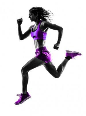 Sticker femme runner running silhouette joggeuse