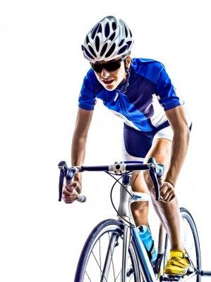 Sticker femme triathlon ironman athlète cycliste vélo