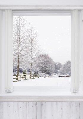 Sticker Fenêtre d'hiver