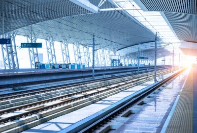 Sticker ferroviaire vide plateforme fond