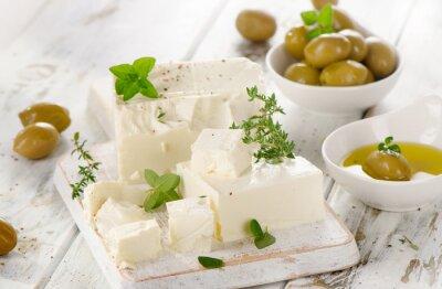 Sticker Feta aux olives vertes.