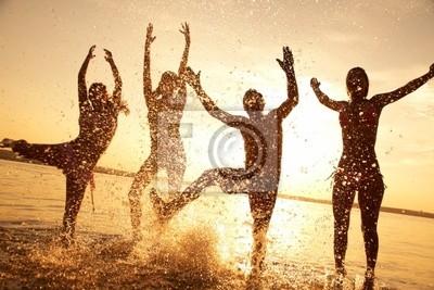 fête sur la plage