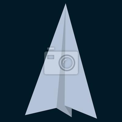 Feuille De Papier Origami Icône Plate Signe Vectoriel Pictogramme