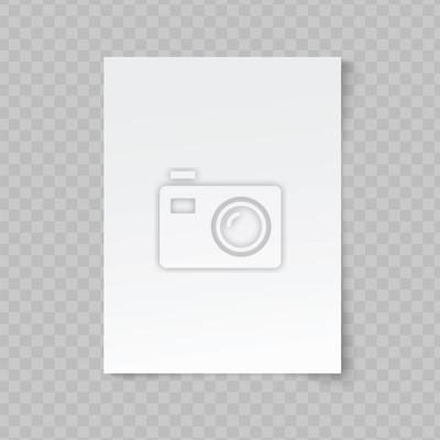 Sticker Feuille de papier vierge de vecteur sur fond transparent.