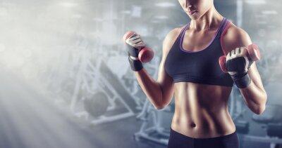 Sticker fille athlétique