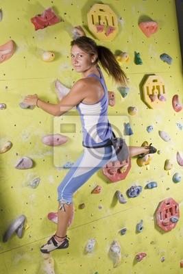 fille sportive escalade