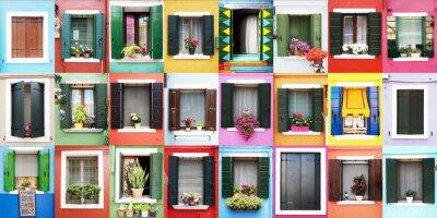 Sticker Finestre colorate di Burano