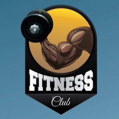 Sticker Fitness, club, emblème, Illustration