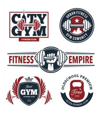 Sticker Fitness Emblèmes Set