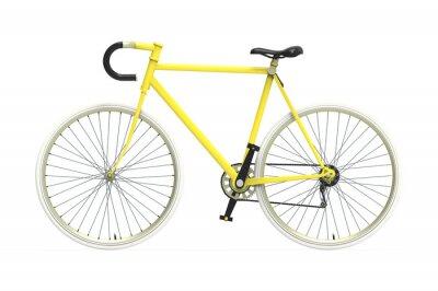 Sticker Fixe vélo engins de ville mélange de couleurs fond isolé